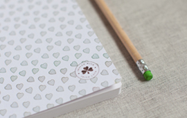 irish made heart notebook