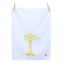 Irish gifts of old road sign tea towel