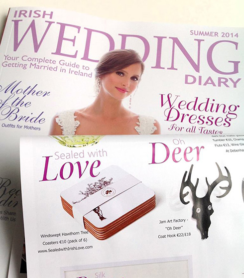Irish coasters as wedding gifts