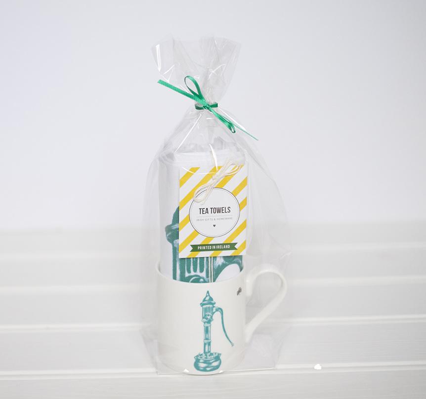 Tea Towel And Mug Gift Set