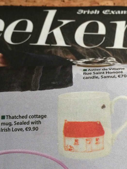 Irish Mugs with Thatched Cottage
